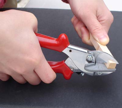 how to cut quarter round at 45 degree angle