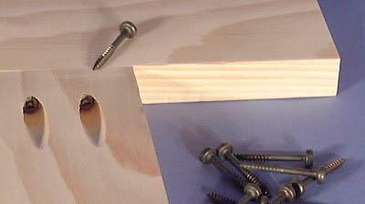 Pocket screws and wood
