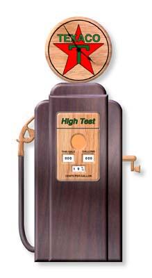 Texaco Gas Pump Clock Plan