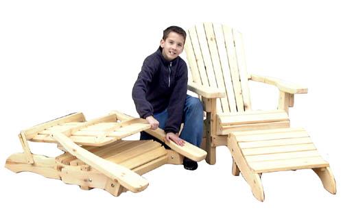 Outdoor Furniture   Folding Adirondack Chair Plan