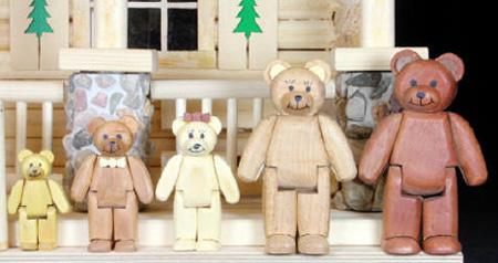 English Bear Family Lodge Doll House Plan Workshop Supply
