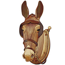 Mule With Blinders And Harness Intarsia Pattern Workshop