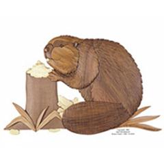 Beaver Intarsia Pattern Workshop Supply