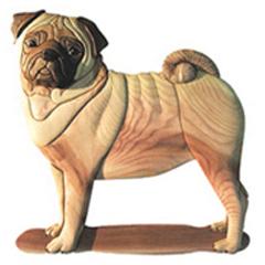 photo about Free Printable Intarsia Patterns called Pug Pet Intarsia Habit