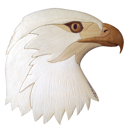 Bald Eagle Intarsia Pattern Workshop Supply