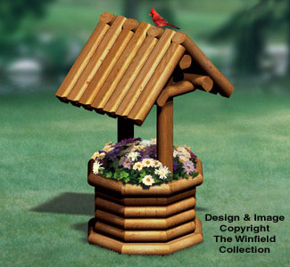 The winfield collection landscape timber wishing well for Garden wishing well designs