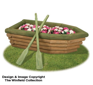 The Winfield Collection - Landscape Timber Rowboat Planter Plan