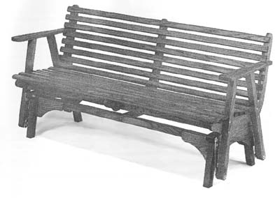 Cheap Outdoor Benches on Outdoor Furniture   Bench Glider Plan