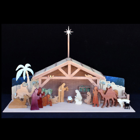 Outdoor Wood Nativity Plans House Design And Decorating