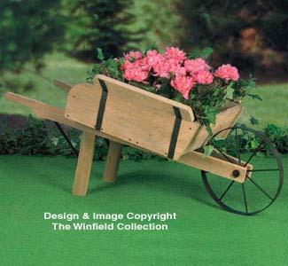 The Winfield Collection - Rustic Wheelbarrow Planter Plan ...