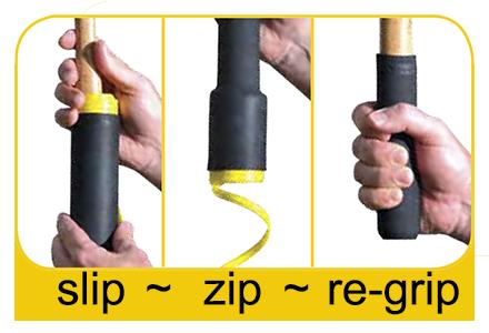 slip, zip & grip