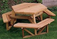 Outdoor Plans Hexagon Picnic Table Plan Workshop Supply